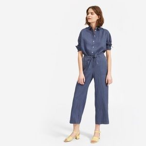 NWT Everlane Linen Pant in Blue Indigo